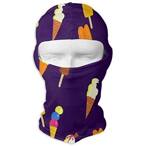 nencreme Hüte Ski Maske farbige Eiscreme Sun UV-Schutz Staubschutz winddicht Gesichtsmaske für Laufen Radfahren Angeln New4 ()