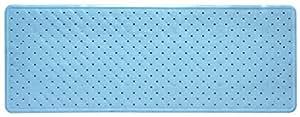 Tapis de bain antidérapant bleu clair uni 35 cm (largeur) x 76 cm