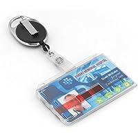 BE-HOLD Porta badge: Custodia per badge o documento d'identità con bobina retrattile. Cordoncino antistrappo e custodia di altissima qualità
