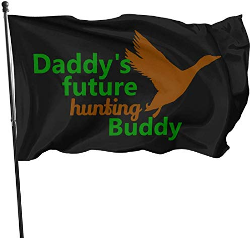 Oaqueen Banderas Daddy\'S Future Hunting Buddy Decorative Bandera del jardín, 3 X 5 Ft Flag For Outdoor Indoor Home Decor