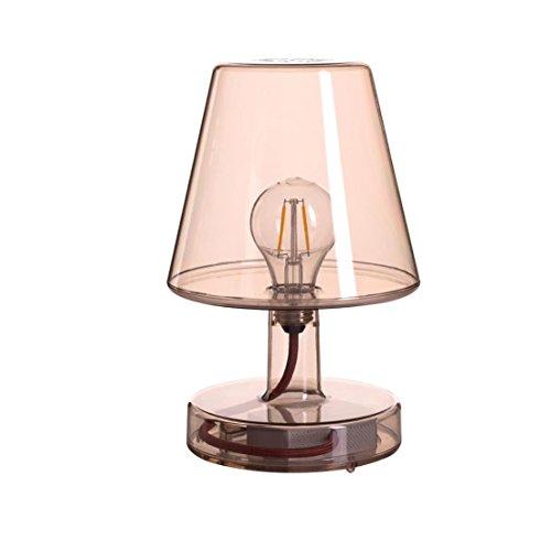 TRANSLOETJE - Lampe à poser LED rechargeable Brun H25cm - Lampe à poser Fatboy designé par Jukka Setala