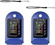 Moobody Pulsossimetro 2 Pezzi - Display Pulsossimetro da Dito Tre in Una Funzione (Spo2,PR,PI) Misurazione del