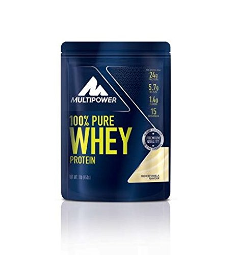Multipower - 100 % Pure Whey 450 g French Vanilla 2er Pack...