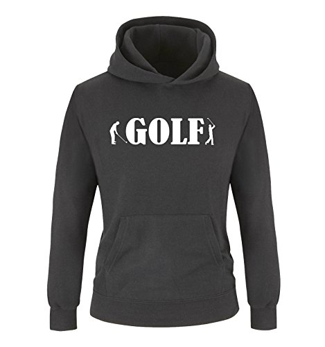 Geburtstag Golf Shirt (Comedy Shirts - Golf - Zwei Spieler - Jungen Hoodie - Schwarz/Weiss Gr. 134/146)