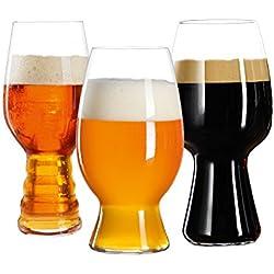 Juego de 3 copas para degustación de cerveza