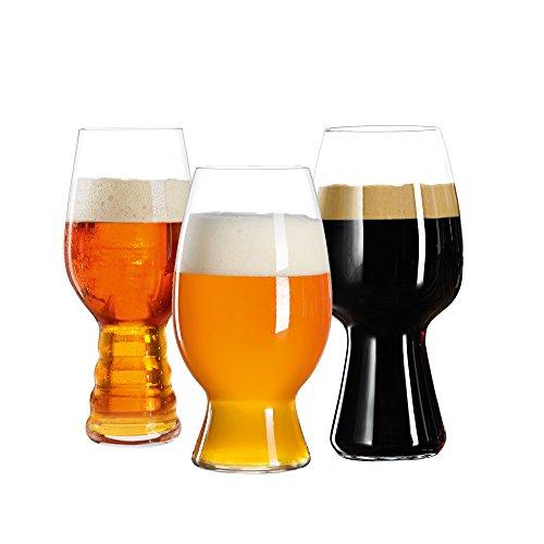 Spiegelau & Nachtmann, 3-teiliges Kraftbier-Glas-Set, Verkostungsset, Kristallglas, 540/600/750 ml, 4991693, Craft Biergläser