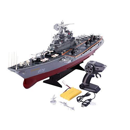 Wynkl Fernbedienung Schiff Große Warship Modell Spielzeug-Boot Fernbedienung Speedboat High Speed   Speedboat Eltern-Kind-Spiele im Freien Wasserspielzeug