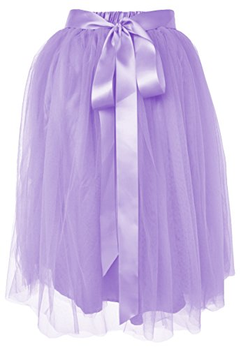 -Linie Knie Länge Tüllrock [Sticker XL] Lavendel Gr. 42-46 (Erwachsene Ariel Kostüm)