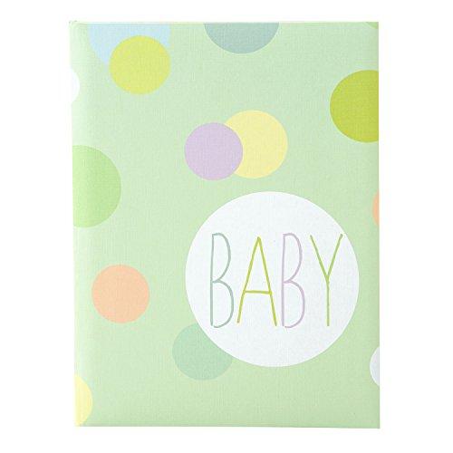 Goldbuch Babytagebuch, Baby Dots, 21 x 28 cm, 44 illustrierte Seiten, Leinenstruktur, Bunt, 11135