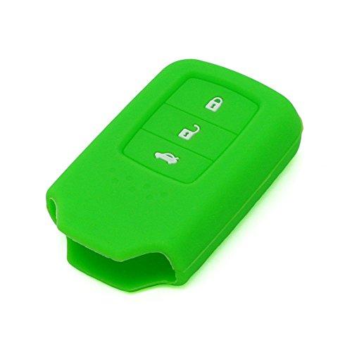 fassport Silikon Cover Haut Jacke Fit für Honda 3Taste Smart Fernbedienung, Schlüssel - Accord 2013 Honda Remote
