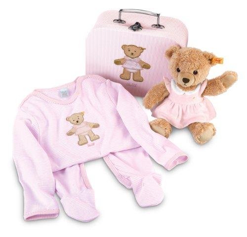 Steiff 239618 - Geschenkset Schlaf Gut Bär, rosa