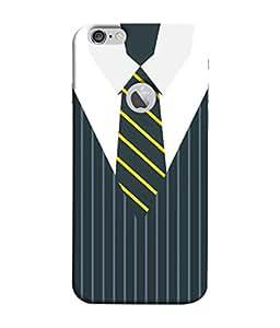 Fuson Designer Back Case Cover for Apple iPhone 6 (Logo View Window Case) (Suit Coat Blazer Ties Corporate Dress)