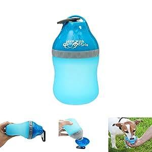 EX1 Portatile Bottiglia d'acqua Animale Domestico Pieghevole Silicone con Carabiner per Cane Gatto Animali Viaggio Attività all'aperto