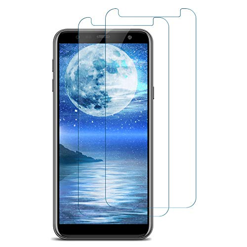 Bigmeda Panzerglas Schutzfolie für Samsung Galaxy A7 2018, [2 Stück] HD Transparent, 9H Härte, Anti-Kratzen, Anti-Öl, Anti-Fingerabdruck, Anti-Bläschen für Samsung A7 2018 Panzerglasfolie