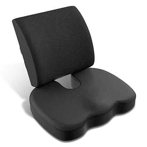 Cuscini in schiuma di memoria ergonomico, cuscino ortopedico per il coccige, cuscino lombare, sollievo della schiena inferiore, sciatica, emorroidi, ideale per ufficio, auto, sedia a rotelle