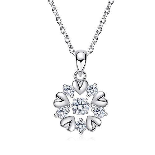 Lcdy pendente a forma di cuore in argento sterling s925 collana elegante di personalità casual da donna