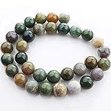 14 unidades Mixtas de Color de la Ronda de Indian Ágata Natural de piedras preciosas...