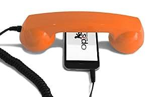 OPIS 60s MICRO: retro handset / vintage handset / retro receiver / mobile handset for iPhone, Galaxy, Blackberry, Lumia, etc. (orange)