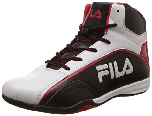 Fila Men's Marco White, Black and Red Sneakers -7 UK/India (41 EU)
