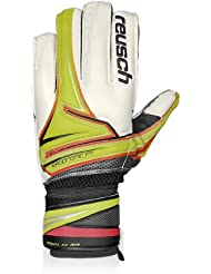 Reusch Argos SG Air Junior Flat Palm Goalkeepers Gloves in White / Lime / Pink