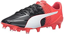 PUMA Mens Evospeed SL-S II FG Soccer Shoe, Black/Puma White/Red, 12 M US