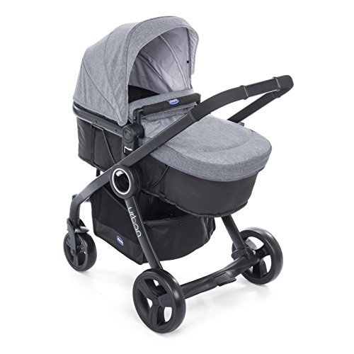 Chicco Urban Color Pack - Set de accesorios: capota + cubrepiernas + kit confort, color gris vaquero