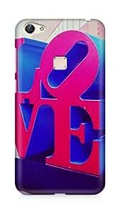AMEZ designer printed 3d premium high quality back case cover for Vivo X6 (love)