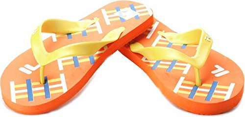 Fila Men's Hash Orange, Yellow and White Hawaii Thong Sandals - 9 UK/India (43 EU)  available at amazon for Rs.202