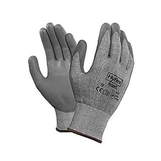 Ansell HyFlex 11-627 Schnittschutz-Handschuhe, Mechanikschutz, Grau, Größe 10 (12 Paar pro Beutel)