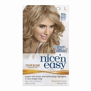 clairol nice n easy with color blend clairol nice n easy with color blend technology permanent color natural medium neutral blonde 103a 1 ct quantity of - Coloration Blond Gris