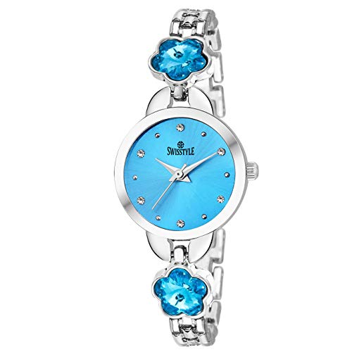 Swisstyle Analog Blue Dial Women Watch-SS-LR302-BLU-SLV