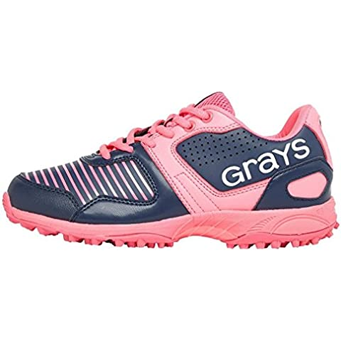 GRAYS gx550Junior Hockey scarpe, colore: blu Navy e rosa
