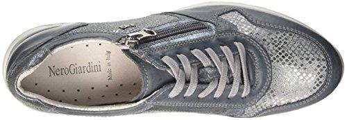 Nero Giardini P717040d, Sneaker a Collo Basso Donna Argento