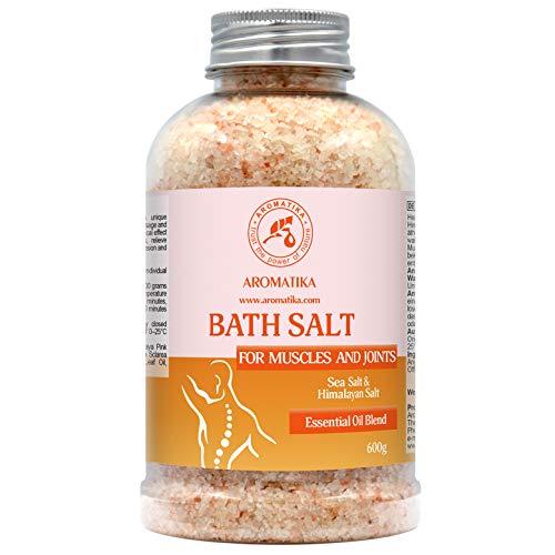 Sales de Baño Articulaciones & Músculos 600g - Aceites Esenciales de Lavanda & Salvia & Romero - 100%...