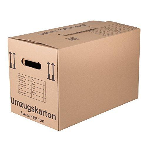 Preisvergleich Produktbild 200 Umzugskartons Standard - Qualität: 1-wellig, Umzug Karton Kisten Verpackung