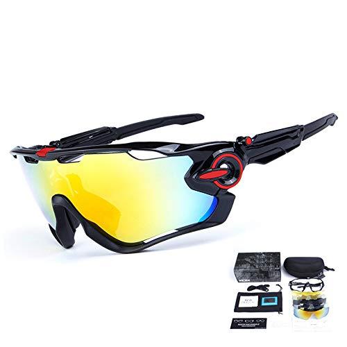 Yiph-Sunglass Sonnenbrillen Mode Myopie Radfahren Brille polarisierte Licht Outdoor-Sportarten Männer und Frauen Reiten Brille (Farbe : A)