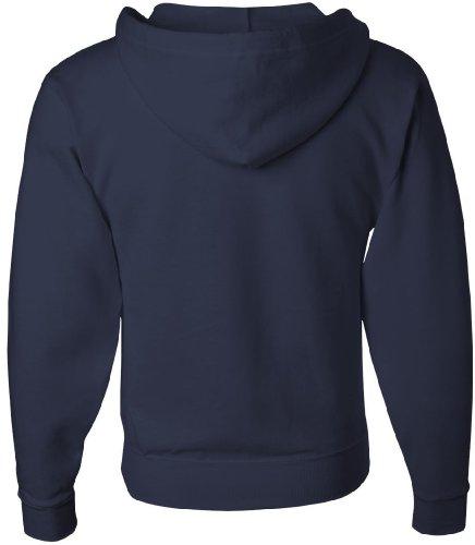 JERZEES - full-con cerniera NuBlend felpa con cappuccio-Shirt J NAVY