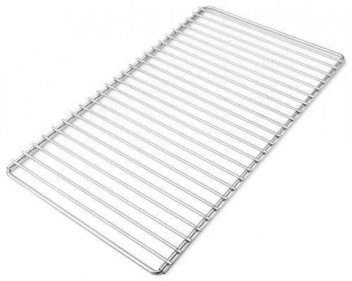 Edelstahl Grillrost mit verstellbarer Breite 50-60X30cm aus europäischem Edelstahl, Verstellbarer Grillrost, Grillrost Ausziehbar -