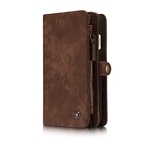 """SITCO iphone 7 4.7"""" étui portefeuille en cuir flip avec porte-carte pour iphone 8 4.7"""" détachable couverture arrière étui portefeuille zipper avec aimant sac à main sac à main pochette téléphone"""