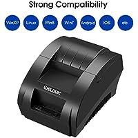 WELQUIC Impresora Térmica Directa Portable de Mini Wireless 58 mm Bluetooth de Alta Velocidad, Compatible con Android & iOS & Windows & Linux y los Sistemas de ESC/POS Imprimir Comandos Conjunto