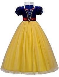 Vestidos niña Princesa Disfraz Traje Parte Blancanieves para Boda Largo Gala De Ceremonia Fiesta Elegantes Comunión Paseo Baile Pageant Damas De Honor Coctel Vacaciones Noche Cumpleaños Verano Ropa