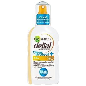Garnier Delial Clear Protect+ Spray Corporal Protector Transparente con SPF30 – 200 ml