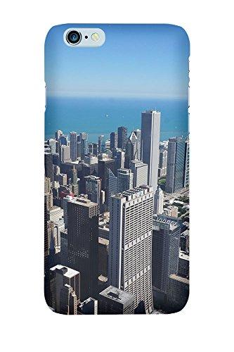 """artboxONE Handyhülle Apple iPhone SE, weiß Silikon-Case Handyhülle """"Chicago Sonne Case"""" - Reise - Smartphone Case mit Kunstdruck hochwertiges Handycover von Bjoern Prickartz Premium Case"""