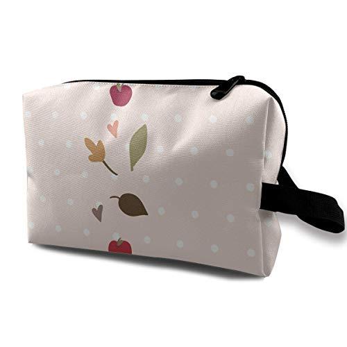 Camoflauge Fall (Yellow Heart Art for Fall Portable Travel Makeup Bag,Storage Bag Portable Ladies Travel Square Cosmetic Bag)