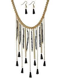 b40559a4cf7b Tata Gisèle Juego de Collar de fantasía y Pendientes Colgantes Surtidos