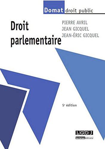 Droit parlementaire, 5ème Ed.