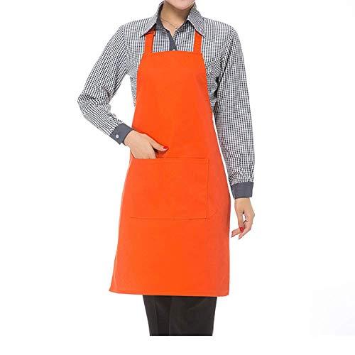 YXDZ (2 Stück Halblange Schürze Süße Wohnküche Kochschürze Westliches Restaurant Kaffee Tee Laden Kellner Arbeit Taille Frauen Orange