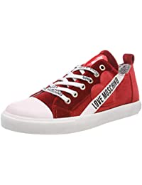 1a156a4c3e7289 Love Moschino Women's Scarpad.gomma30 Velluto Low-Top Sneakers