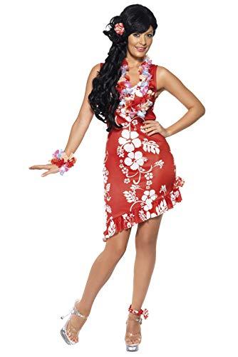 Smiffys, Damen Hawaiianische Schönheit Kostüm, Kleid, Haarschmuck und Fußspange, Größe: M, 33043