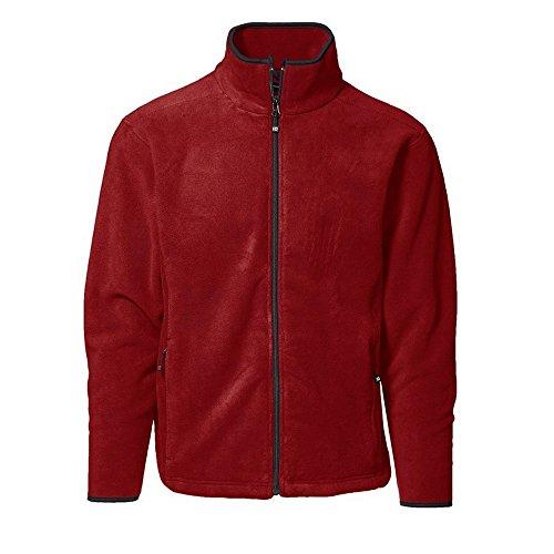 ID Herren Microfleece-Jacke mit durchgehendem Reißverschluss Violett